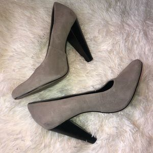 Made gray suede heels size 8.5